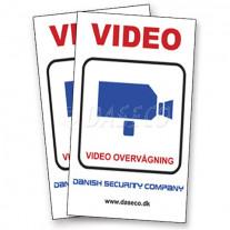 2 Stk. Store Video Klistermærker