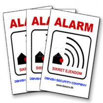 3 Stk. Alarm Klistermærker